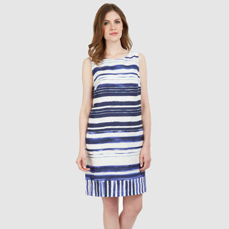 Relaxed Stripe Linen Dress