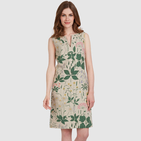 Daisy Garden Linen Shift Dress