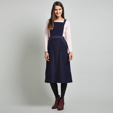 Corduroy A-Line Midi Dress