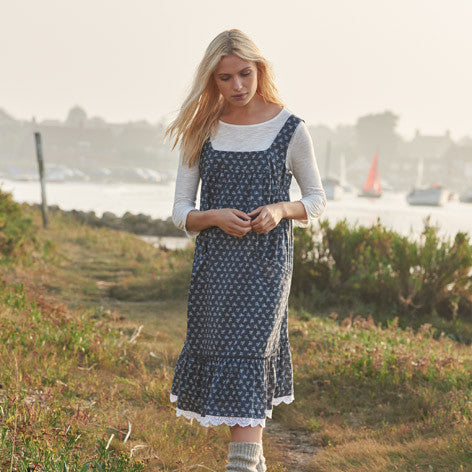 Spring Print Pinafore Dress