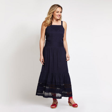 Cutwork Maxi Dress