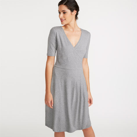 Grey Jersey Wrap Dress