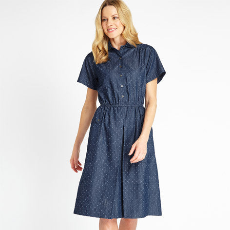 Denim Dobby Dress