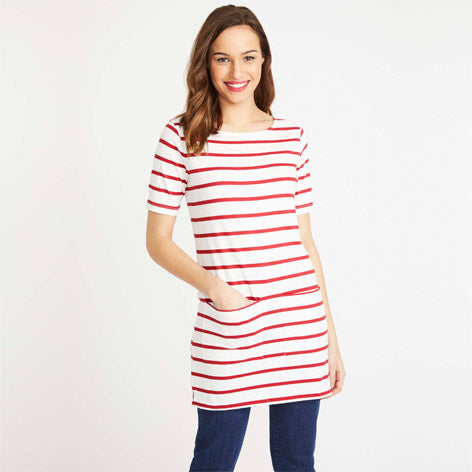 Red Stripe Jersey Tunic