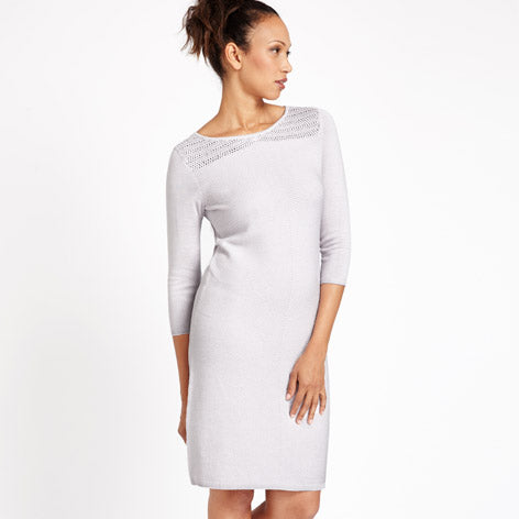 Grey Crochet Knit Dress