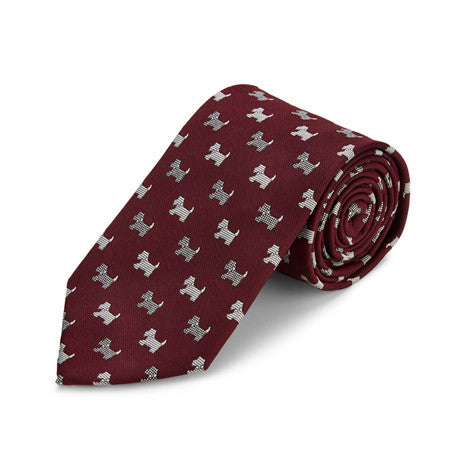 Scottie Dog Silk Tie