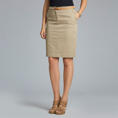 Chino Skirt With Belt