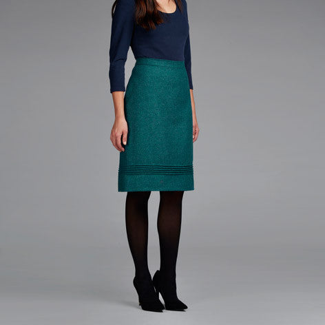 Moon British Wool Pintuck Dot Skirt