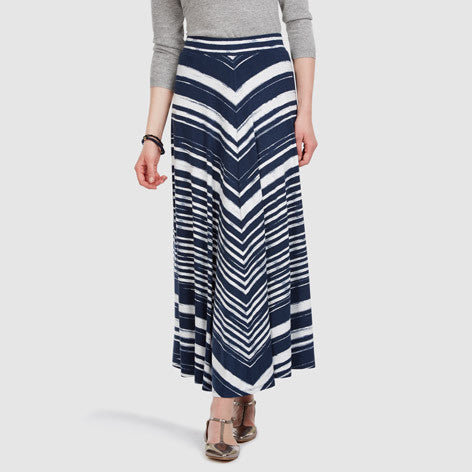 Painted Chevron Stripe Maxi Skirt