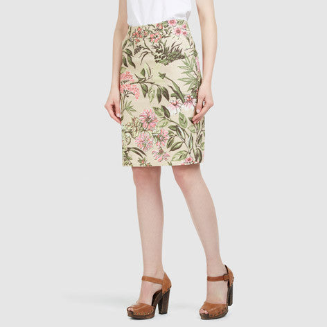 Lime Grove Forest Floral A-Line Skirt