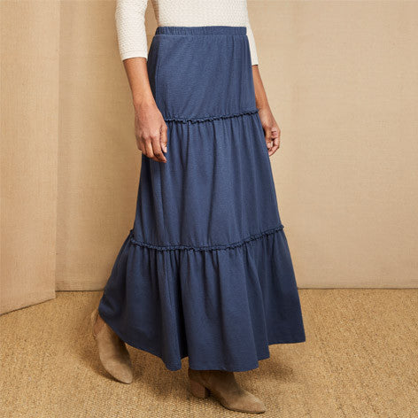 Jersey Tiered Long Skirt