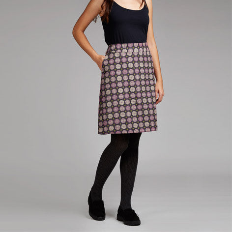 Moon British Wool Jacquard Dot Skirt