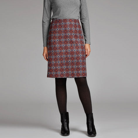 Moon British Wool Jacquard Skirt