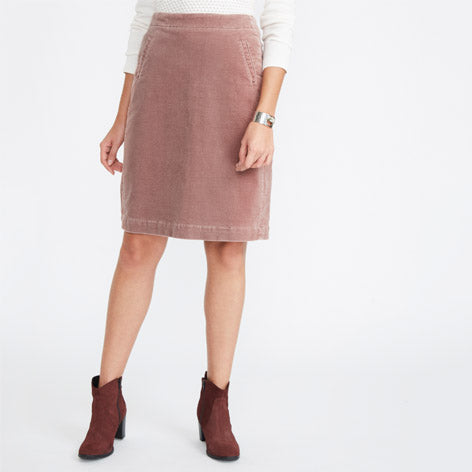 Pink Corded Skirt