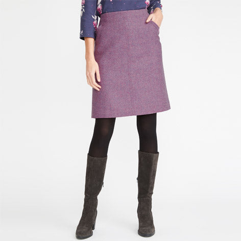 Lilac British Wool Heathered Skirt