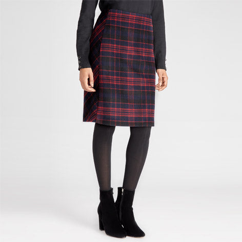 Bias Cut Check Skirt