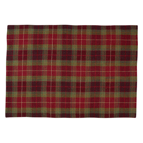Mulholland Cranberry Check Rug