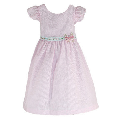 Seersucker Striped Toddler Dress