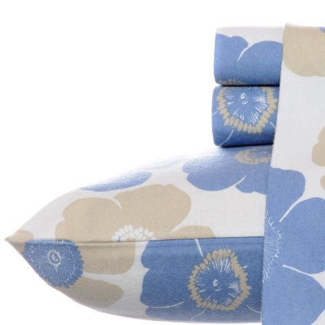 Poppy Bloom Flannel Sheet Set