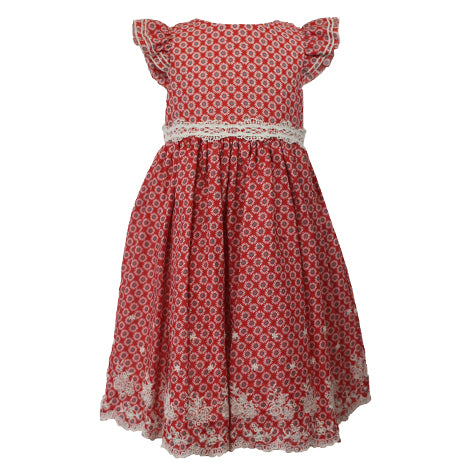 Ruffled Cap Sleeve Floral Toddler Dress