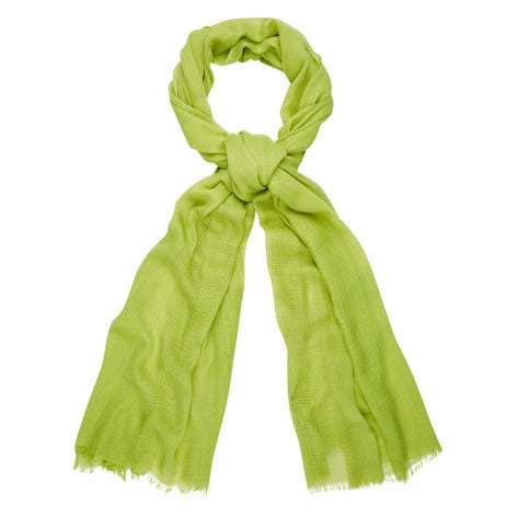 Chive Green Ladder Weave Scarf