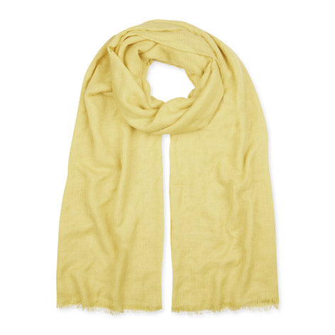 Yellow Textured Scarf