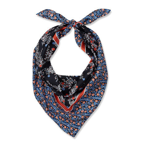 Wild Floral Sprigs Silk Square Scarf