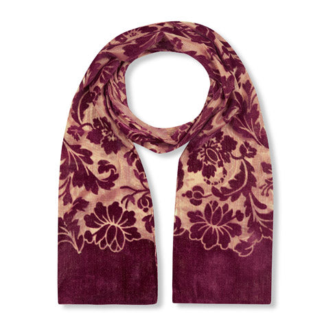 Maroon Baroque Devoree Scarf