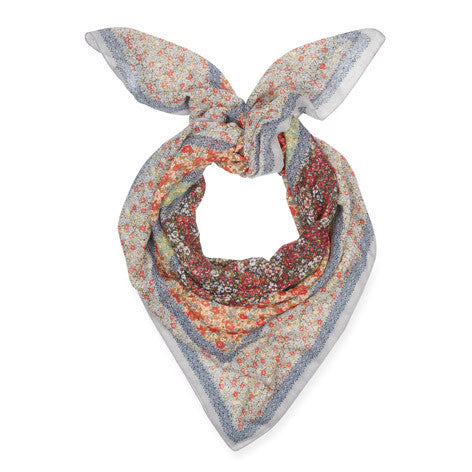 Meadow Patchwork Floral Square Scarf