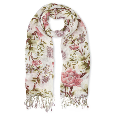 Tapestry Floral Linen Mix Scarf