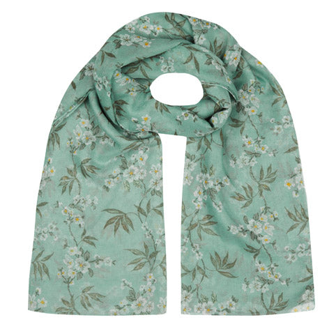 Colonial Floral Print Scarf