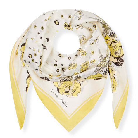 Yellow Buttercup Silk Square Scarf