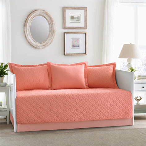 Solid Coral Daybed Set