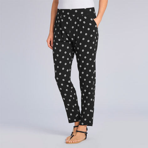Printed Relaxed Crinkle Trousers