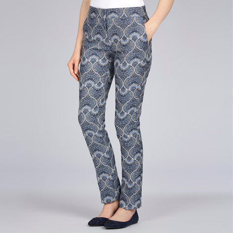 Slim Fit Jacquard Trousers