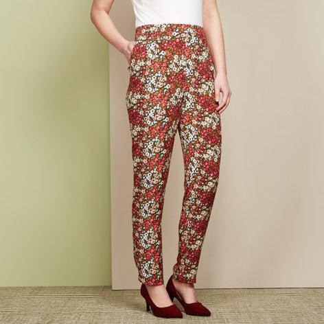 Pull On Printed Trouser