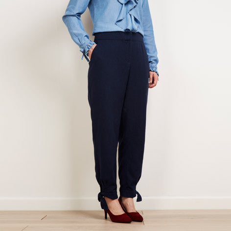 Tie Detail Ankle Trousers