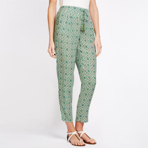 Floral Drawstring Waist Trousers