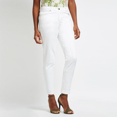 Cropped White Jeans