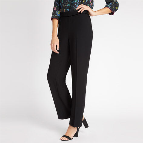 Black Velvet Piped Trousers