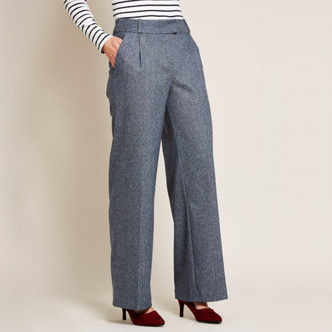 Tweed Wide Leg Trousers