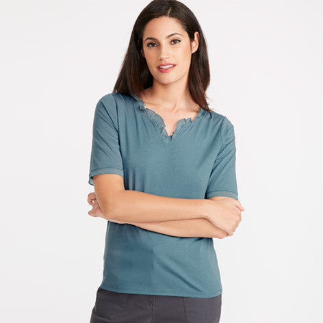 Short Sleeved Bluestone Top