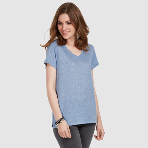 Twisted V-Neck Tee