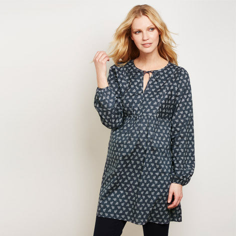 Spring Print Broderie Trim Tunic