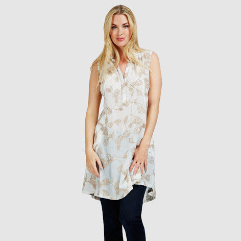 Crochet Embroidered Pocket Tunic