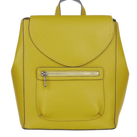 Mustard Yellow Front Pocket Backpack