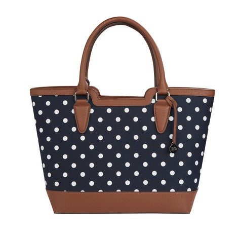 6c6beedae3b Spot Canvas Tote Bag with Faux Leather Trim