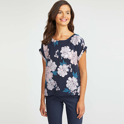 Scattered Camellia Blouse