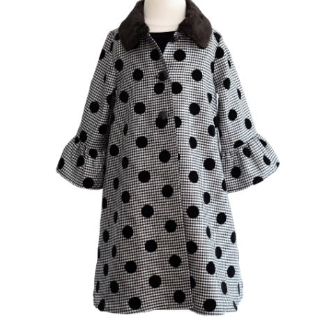Black Spot Toddler Coat Dress