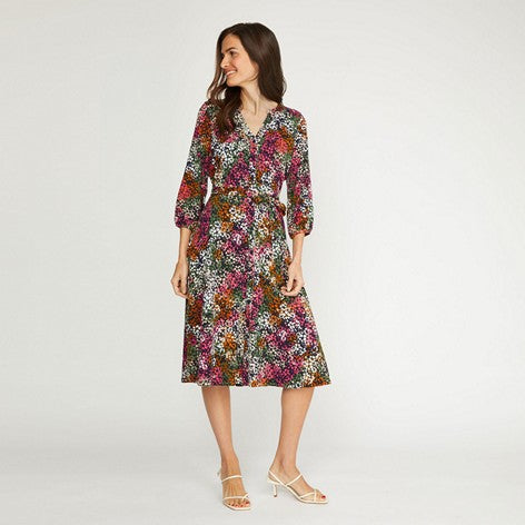 Lobster Clover Print Button Front Dress
